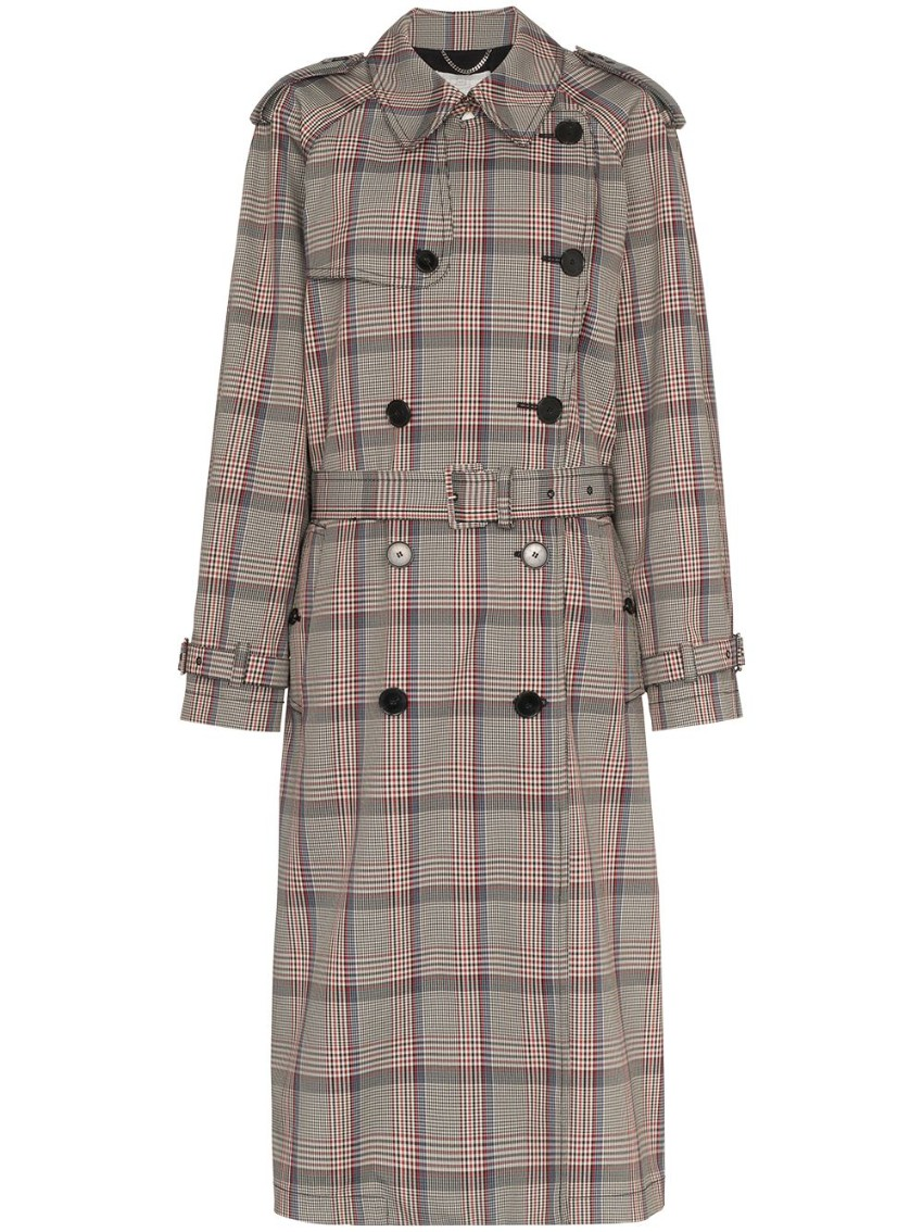 Stella McCartney Check Accordion Trench Coat