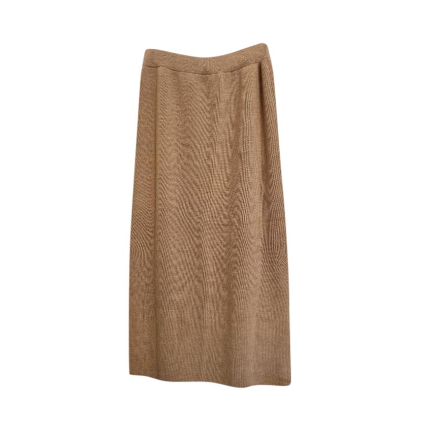 Max Mara Camel Wool Knit Skirt