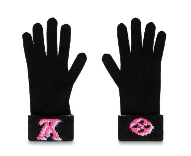 Louis Vuitton 3D Monogram Black Gloves