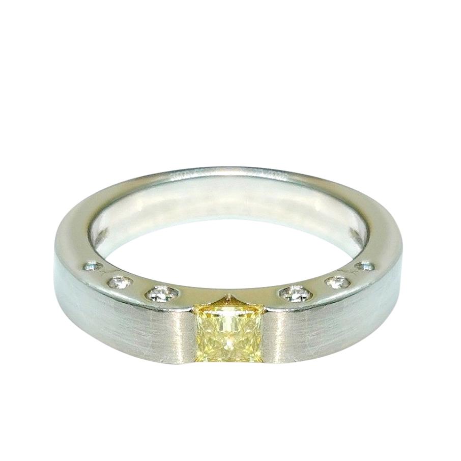 Paul Spurgeon Yellow Diamond Platinum Set Ring