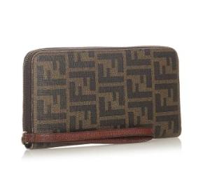 Fendi Zucca Vintage Long Zip-Around Wallet