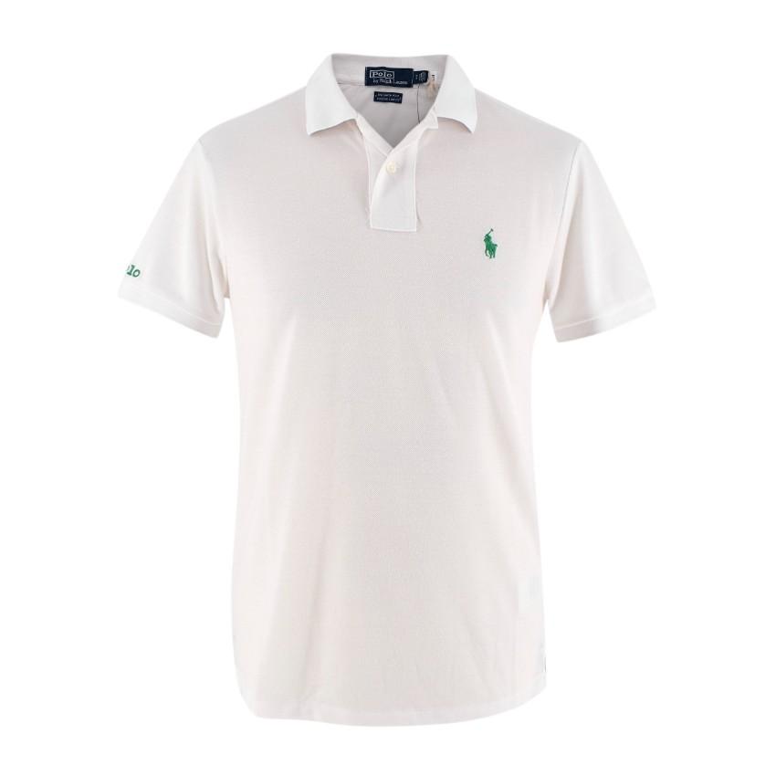 Polo Ralph Lauren The Earth Polo White Pique Polo Shirt