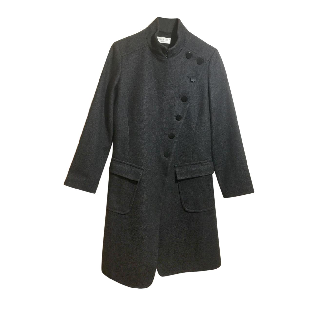 Paul & Joe herringbone asymmetric coat