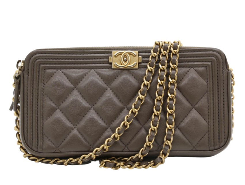Chanel Double ZIP Boy Wallet on Chain