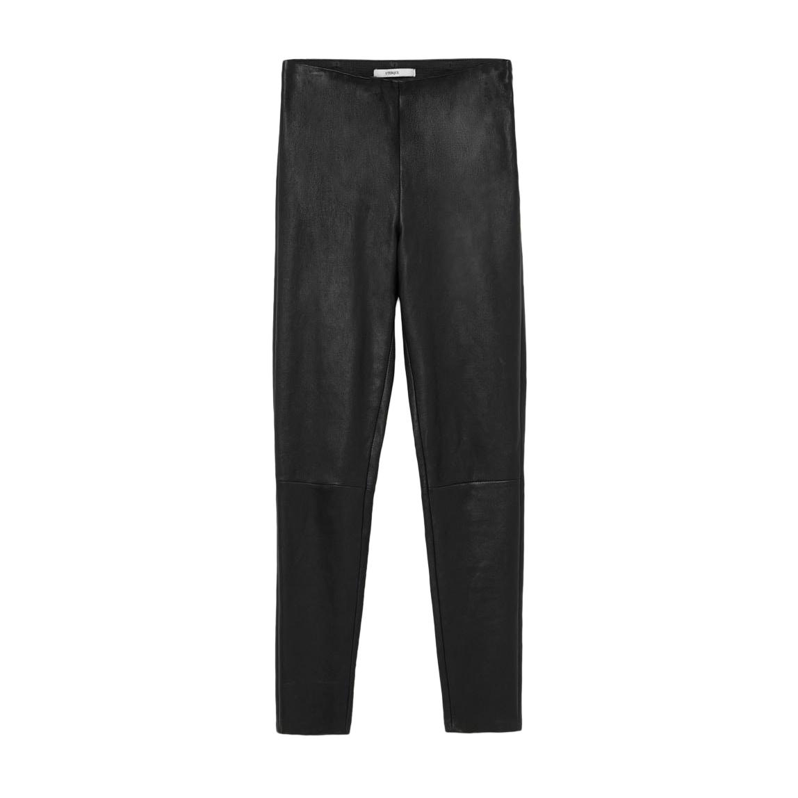 Uterque Black Stretch Leather Leggings