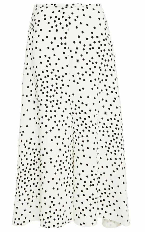 Stella McCartney Fluted Polka Dot Midi Skirt