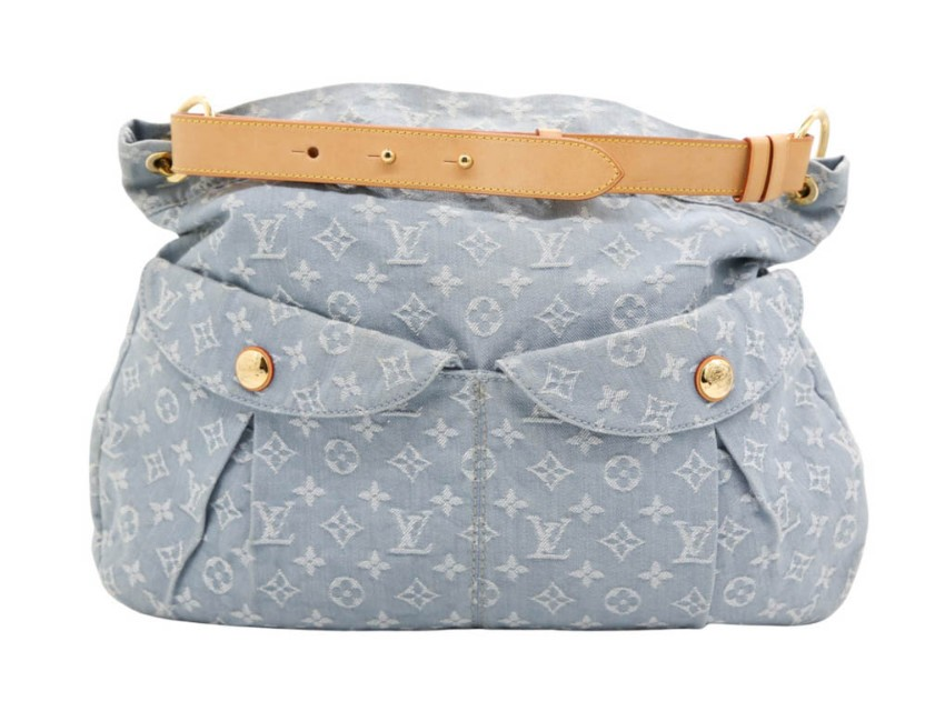 Louis Vuitton Denim Blue Monogram Hobo Bag
