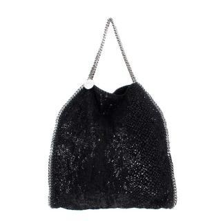 Stella McCartney Black Sequin Falbella Tote Bag