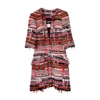 Chanel Red Paris/Dubai Fantasy Tweed Jacket