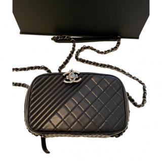 Chanel Black Quilted Leather Coco Boy Camera Case