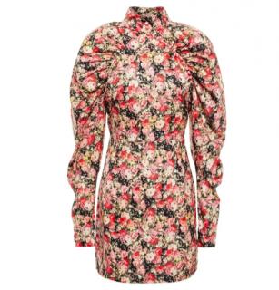 Rotate Birger Christensen Kim Floral Satin Mini Dress