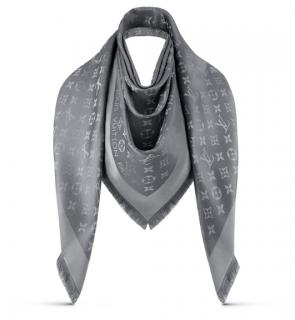 Louis Vuitton Charcoal Monogram Shine Shawl