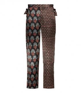 Bode Contrast Print Silk Pants