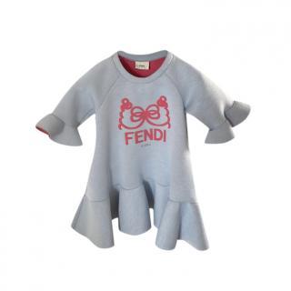 Fendi Kid's 4Y Ruffle Neoprene Dress