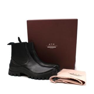 ATP Catania Black Leather Chelsea Boots