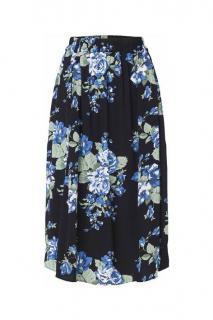 Ganni Blue Crepe Floral print Skirt