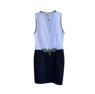 Sandro Jewelled Bi-Colour Mini Dress
