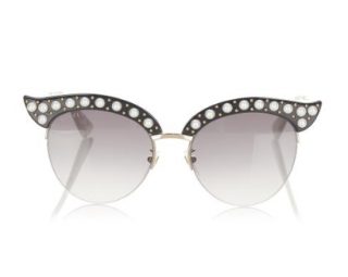 Gucci Round Faux Pearl Embellished Sunglasses