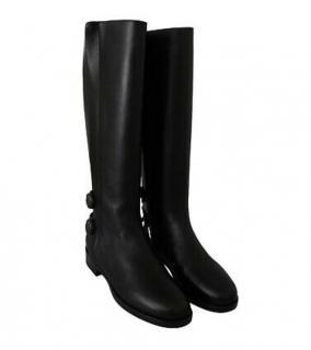 Dolce & Gabbana Black Leather Biker Boots
