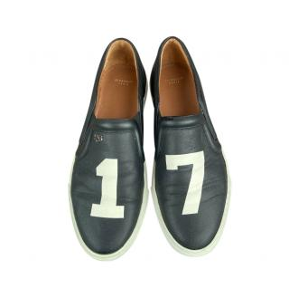 Givenchy Black 17 Leather Low Slip-On Sneakers