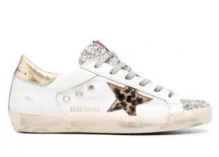 Golden Goose Superstar Leopard/Glitter/Metallic Sneakers