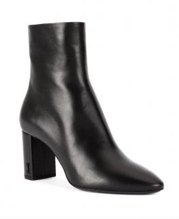 Saint Laurent Black Leather Lou 70 mm Ankle Boots IN SIZE  35.5 OR 39.5 EU