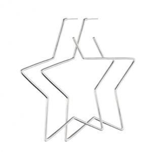 Isabel Marant Silver Tone Star Earrings