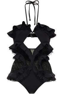 Zimmermann Black D'esprit Panel Allia Swimsuit
