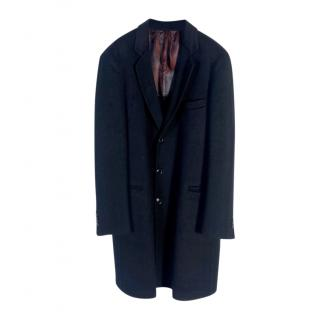 Giorgio Armani Black Cashmere Tailored Coat