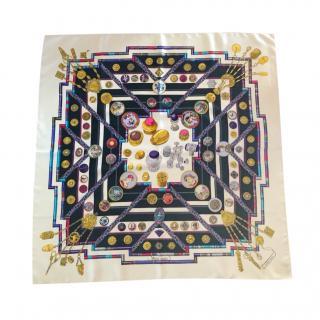 Hermes Petite Main Vintage Silk Scarf 90