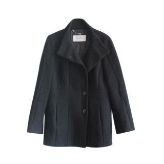 Max Mara Black Wool Tailored Coat
