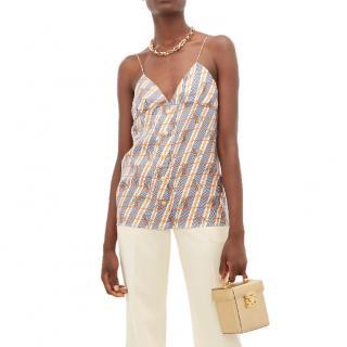 Gucci Giraffe-print Silk-satin Camisole
