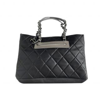 Chanel Caviar Leather Brown Quilted Tote Bag