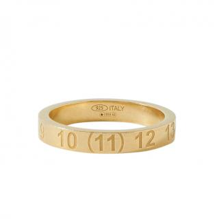 Maison Margiela Gold Plated Engraved Band Ring - Size M
