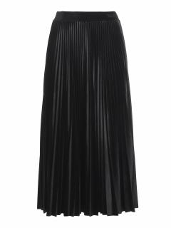 Valentino Black Velvet Pleated Midi Skirt