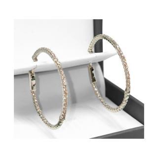 Bespoke 18ct White Gold 30mm Diamond Hoop Earrings