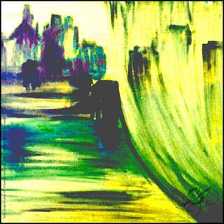 Rosemary Goodenough River Through A Curtain VIII Silk Scarf