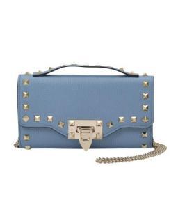 Valentino light blue crossbody rockstud pouch