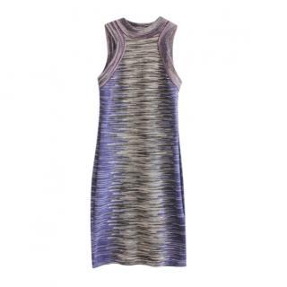 M Missoni Grey Sleeveless Knit Dress