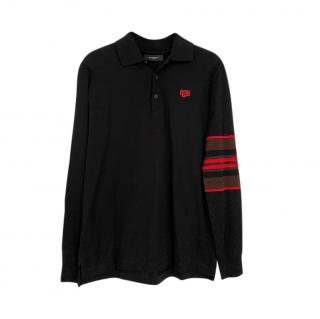 Givenchy Black Embroidered Polo Shirt