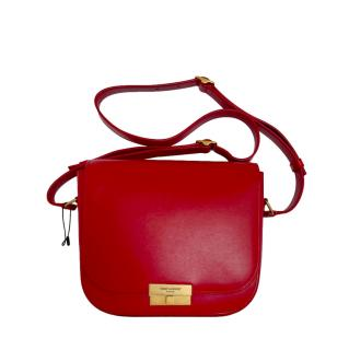Saint Laurent Red Leather Betty Crossbody Bag