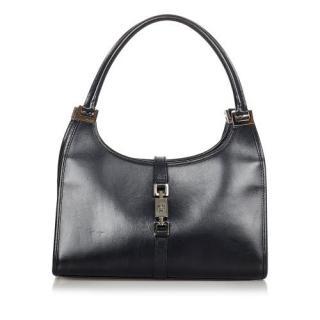 Gucci Black Leather Vintage Jackie Bag