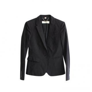 Burberry Black Wool Blend Blazer