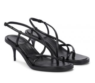 Alexander McQueen Black Strappy Leather Sandals