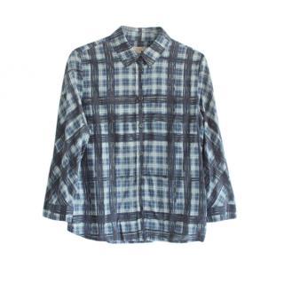 Burberry Brit Blue Plaid Shirt