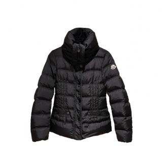 Moncler Black Funnel Neck Down Jacket