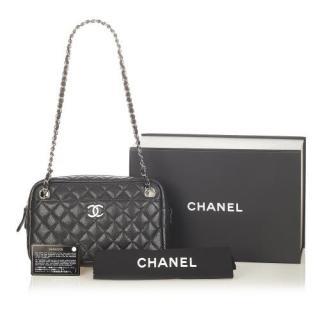 Chanel CC Matelasse Caviar Leather Shoulder Bag