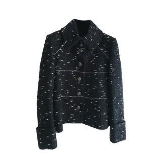 Chanel 2018 runway Black Tweed Jacket