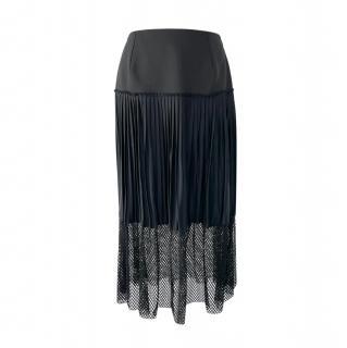 Stella McCartney Black Wool & Silk Skirt