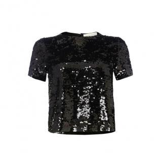 Michael Michael Kors Black Sequin T-Shirt